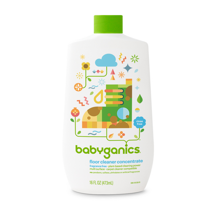Babyganics Floor Cleaner Concentrate Fragrance Free – 16 fl oz