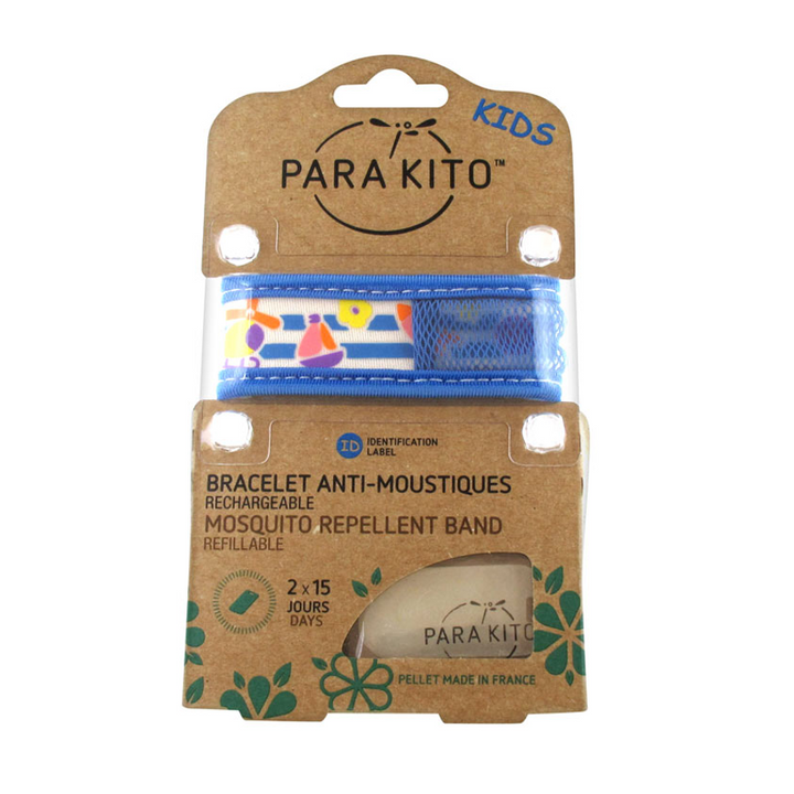 Parakito Kids Anti-Mosquitoes Bracelet - Blue Boat