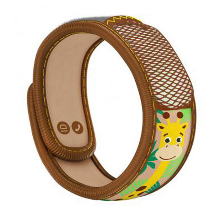 Parakito Kids Anti-Mosquitoes Bracelet - Brown Giraffe