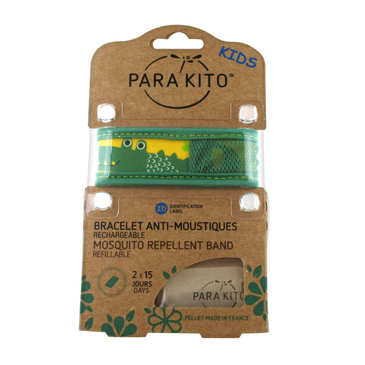 Parakito Kids Anti-Mosquitoes Bracelet - Green Crocodile