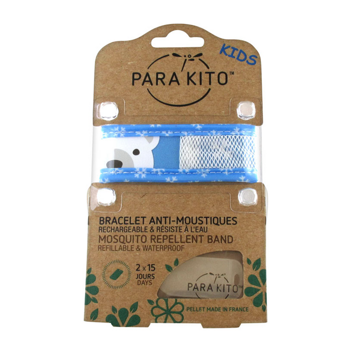 Parakito Kids Anti-Mosquitoes Bracelet - Blue Polar Bear