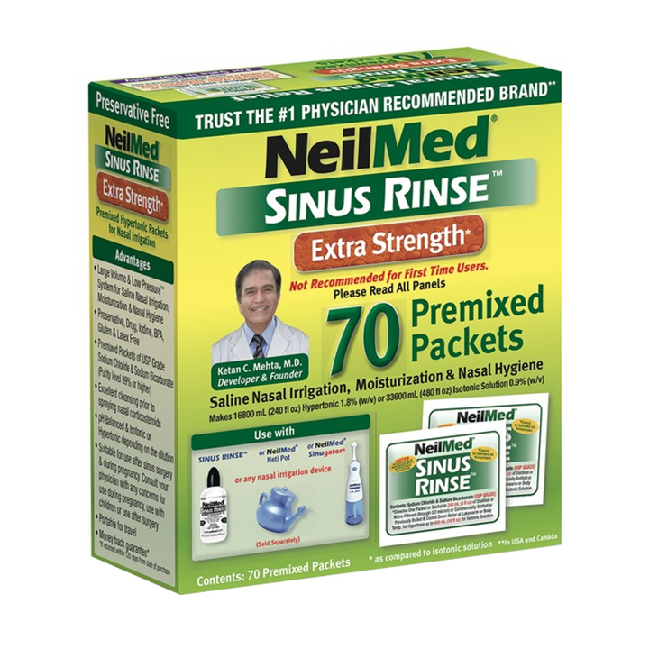 NeilMed, Sinus Rinse Extra Strength - 70 Premixed Packets