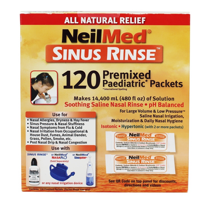 NeilMed, Sinus Rinse Premixed Pediatric Packets - 120 Premixed Packets