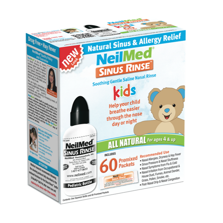 NeilMed, Sinus Rinse Kids All Natural Kit - 60 Premixed Packets