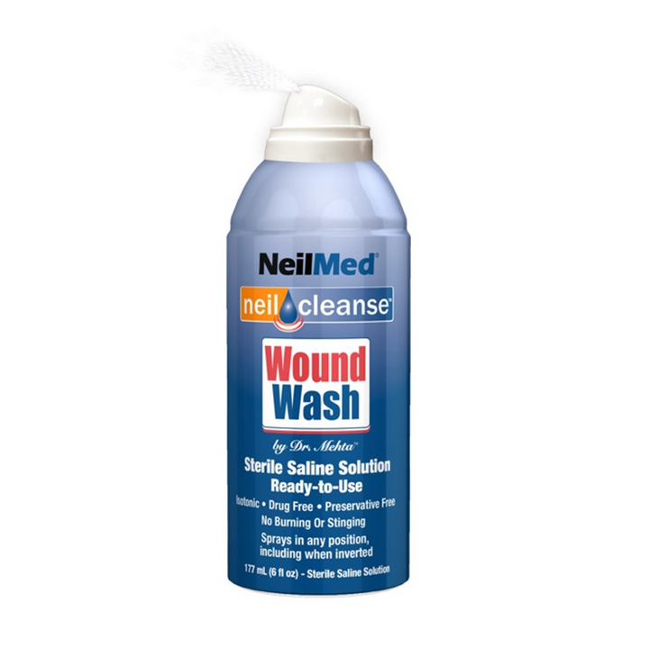 NeilMed, Neilcleanse Wound Wash Ready-To-Use Sterile Saline Solution - 6 fl.