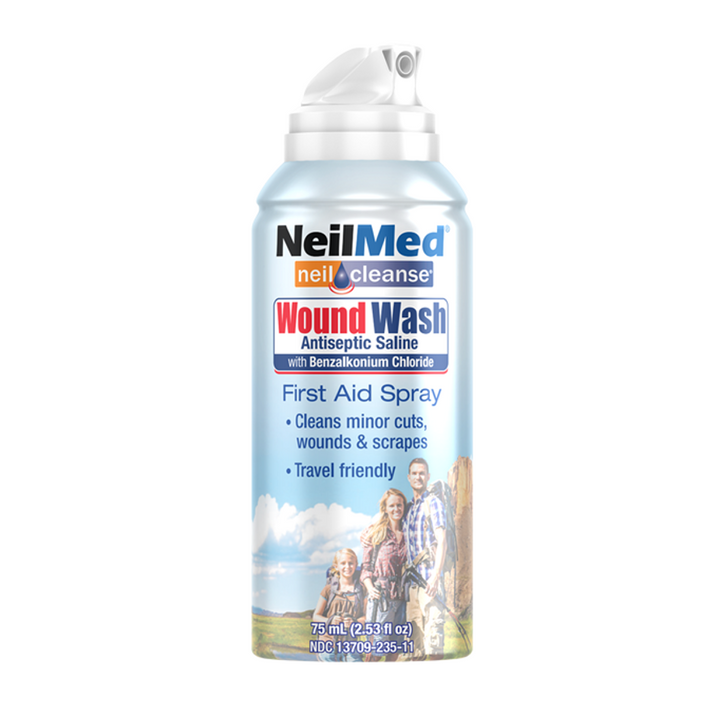 NeilMed, Neilcleanse Wound Wash Sterile Saline Solution - 2.53 fl. oz.