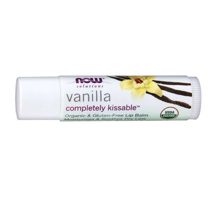 Now Foods, Solutions, Completely Kissable Lip Balm, Vanilla, 0.15 oz (4.25 g)