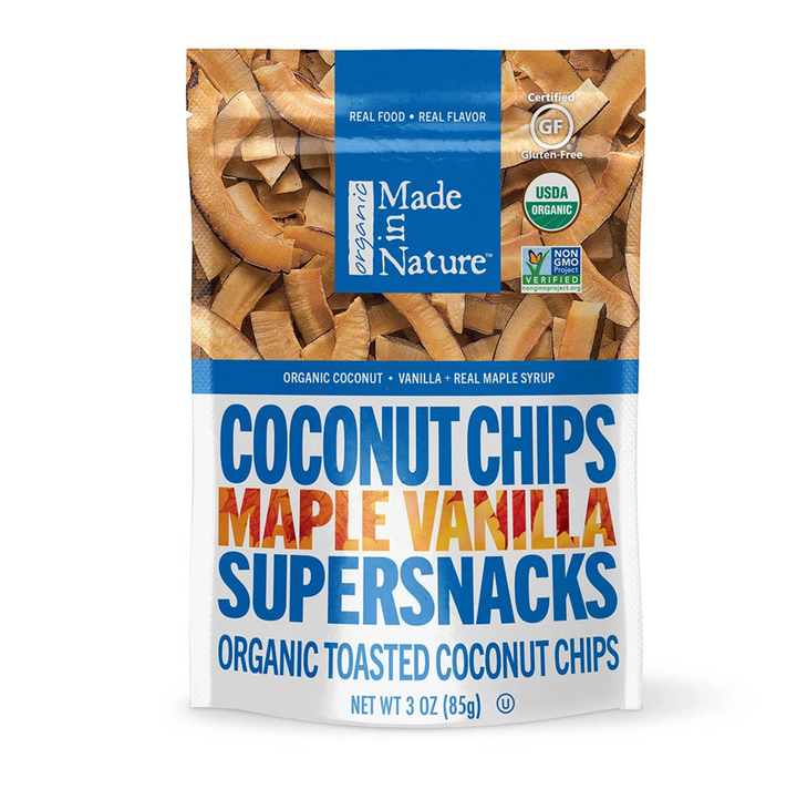 Made in Nature, Organic Coconut Chips, Maple Vanilla Supersnacks, 3 oz (85 g)