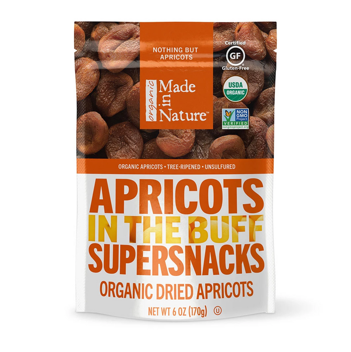 Made in Nature, Organic Dried Apricots, In The Buff Supersnacks, 6 oz (170 g)