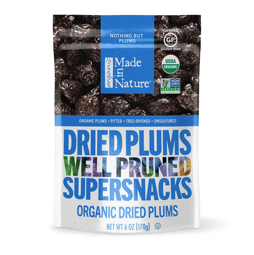 Made in Nature, Organic Dried Plums, Well Pruned Supersnacks, 6 oz (170 g)