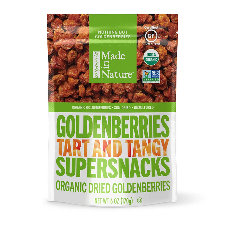 Made in Nature, Organic Dried Goldenberries, Tart and Tangy Supersnacks, 6 oz (170 g)