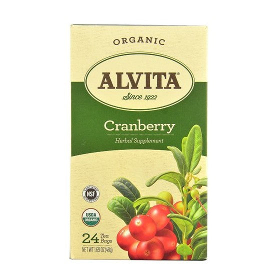 Alvita Organic Herbal Tea Cranberry  24 Tea Bags