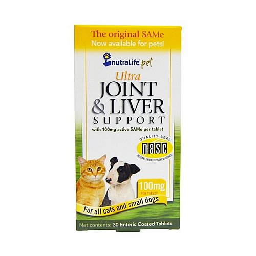NutraLife, Pet, Ultra Joint & Liver Support, 100 mg, 30 Enteric Coated Tablets