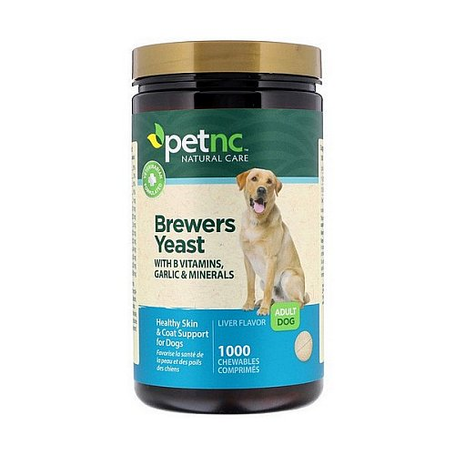 petnc NATURAL CARE, Brewers Yeast, Liver Flavor, Adult Dog, 1000 Chewables