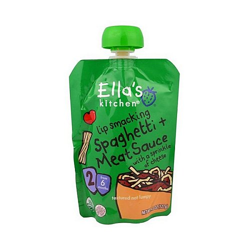 Ella's Kitchen, Lip Smacking Spaghetti + Meat Sauce with a Sprinkle of Cheese, Stage 2, 4.5 oz (127 g)