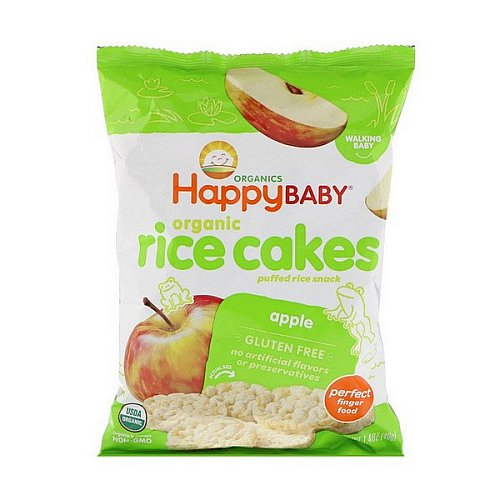 Happy Family Organics, Organic Rice Cakes, Apple, 1.4 oz (40 g)