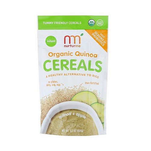 NurturMe, Organic Quinoa Cereal, Quinoa + Apple, Infant, 3.7 oz (104 g)