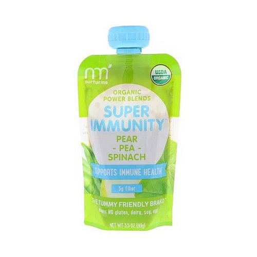 NurturMe, Organic Power Blends, Super Immunity, Pear, Pea, Spinach, 3.5 oz (99 g)
