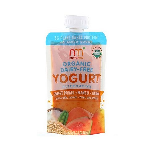 NurturMe, Organic Yogurt Alternative, Sweet Potato, Mango, Guava, 4 Pouches, 3.5 oz (99 g) Each