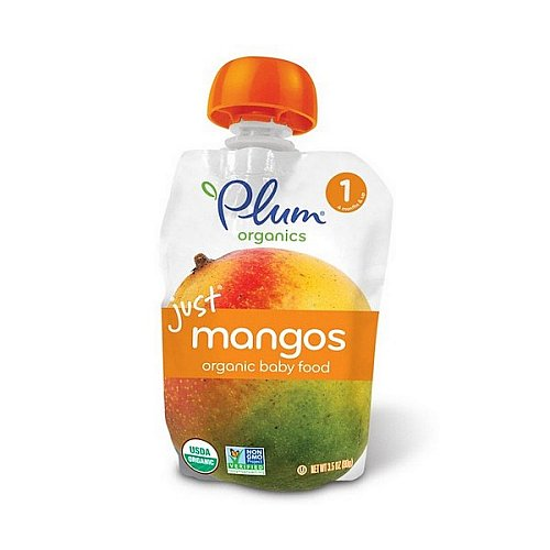 Plum Organics, Organic Baby Food, Stage 1, Just Mangos, 3.5 oz (99 g)