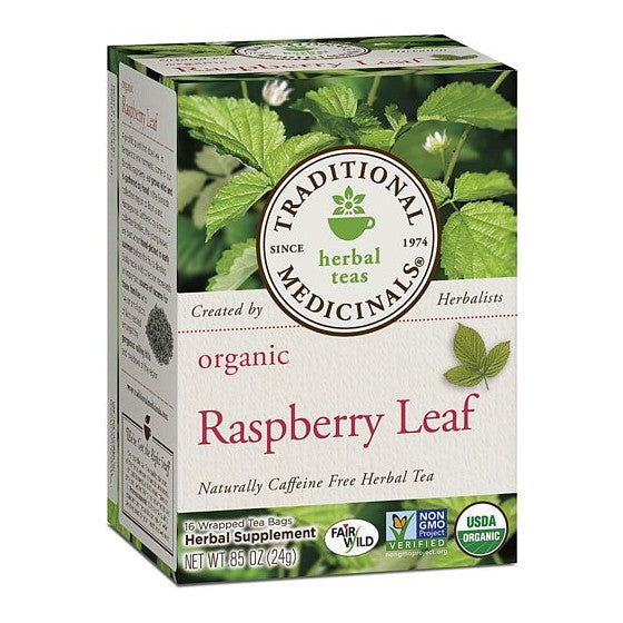 Traditional Medicinals Herbal Tea Organic Raspberry Leaf  16 Tea Bags