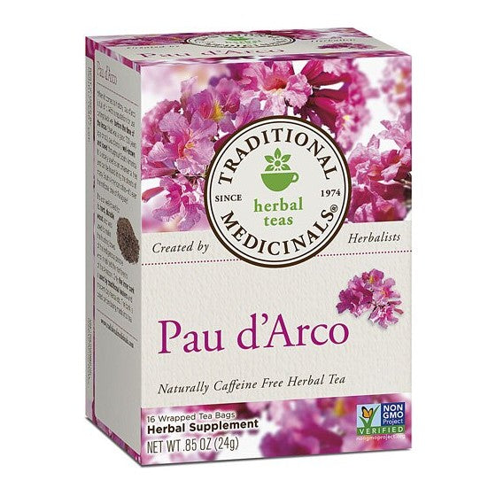 Traditional Medicinals Yellow Pau d'Arco Herbal Tea  16 Tea Bags