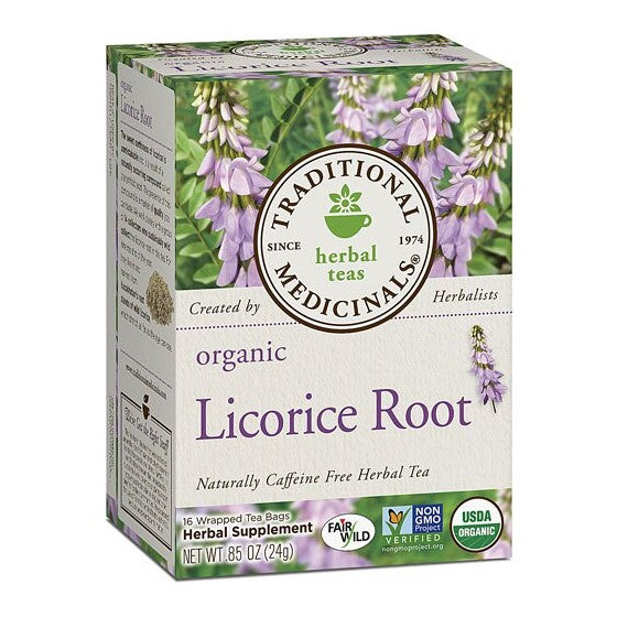 Traditional Medicinals Herbal Tea Organic Licorice Root  16 Tea Bags