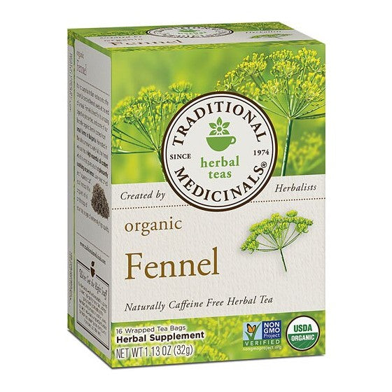 Traditional Medicinals Herbal Tea Organic Fennel  16 Tea Bags