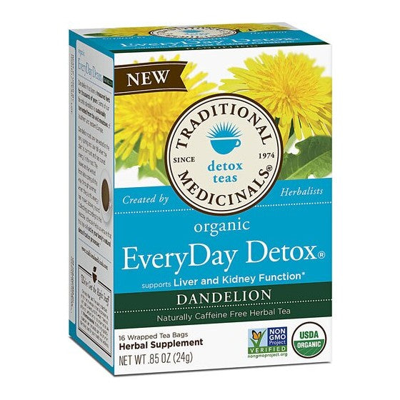 Traditional Medicinals Organic Everyday Detox Dandelion Tea  16 Tea Bags