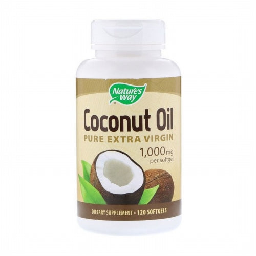 Nature's Way, Coconut Oil, Pure Extra Virgin, 1,000 mg, 120 Softgels