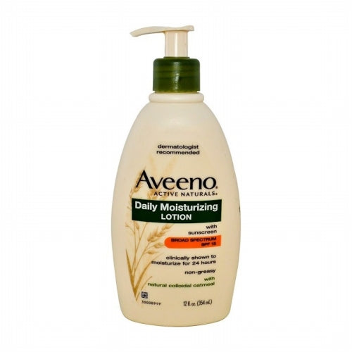 Aveeno, Active Naturals, Daily Moisturizing Lotion with Sunscreen, SPF 15, 12 fl oz (354 ml)