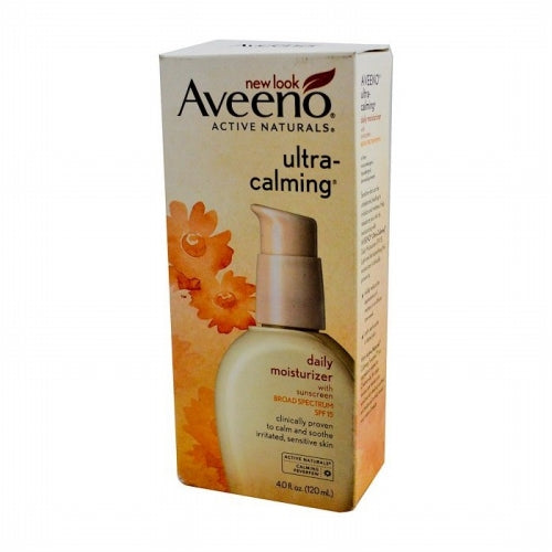Aveeno, Active Naturals, Ultra Calming, Daily Moisturizer, SPF 15, 4.0 fl oz (120 ml)
