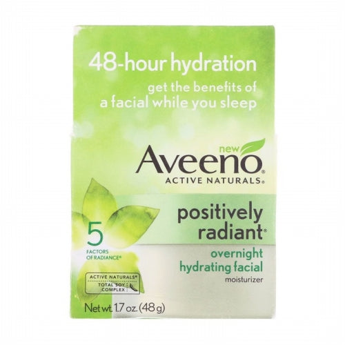 Aveeno, Active Naturals, Positively Radiant, Overnight Hydrating Facial Moisturizer, 1.7 oz (48 g)