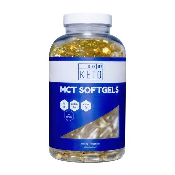 Kiss My Keto MCT Oil Softgels 100 Coconut  1000 mg - 300 Softgels