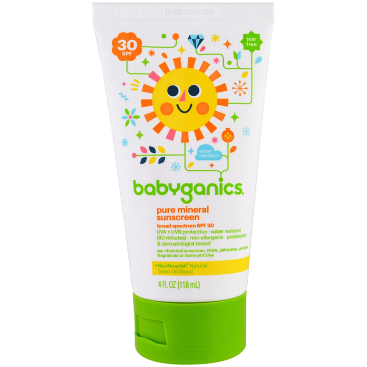 BabyGanics, Pure Mineral Sunscreen Lotion, SPF 30, 4 oz (118 ml)