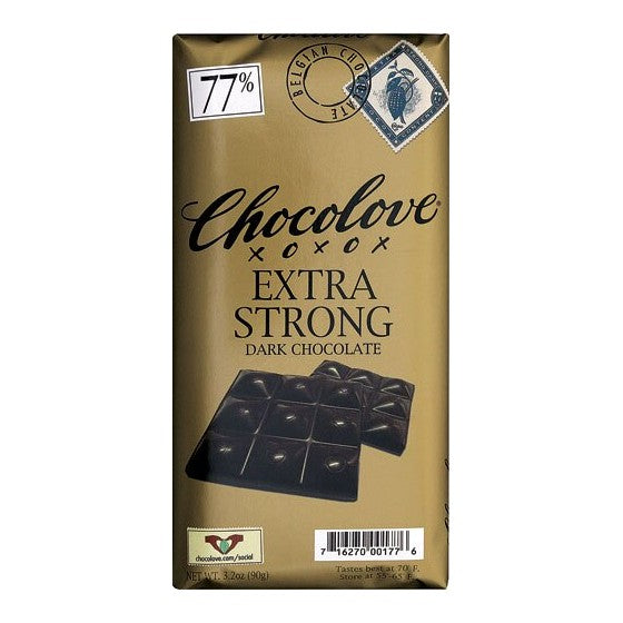 Chocolove Dark Chocolate Bar Extra Strong  3.2 oz