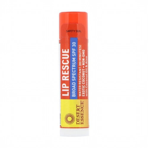 Desert Essence, Lip Rescue, SPF 30, Exotic Coconut, .15 oz (4.25 g)