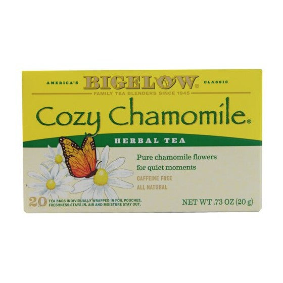 Bigelow Tea Herbal Tea Caffeine Free Cozy Chamomile  20 Tea Bags