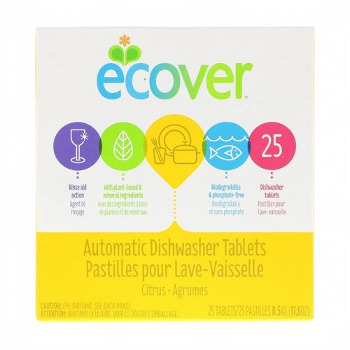 Ecover, Automatic Dishwasher Tablets, Citrus, 25 Tablets, 17.6 oz (0.5 kg)