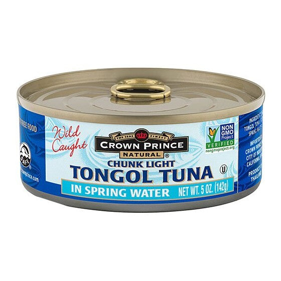 Crown Prince Natural Tongul Tuna Chunk Light In Spring Water  5 oz