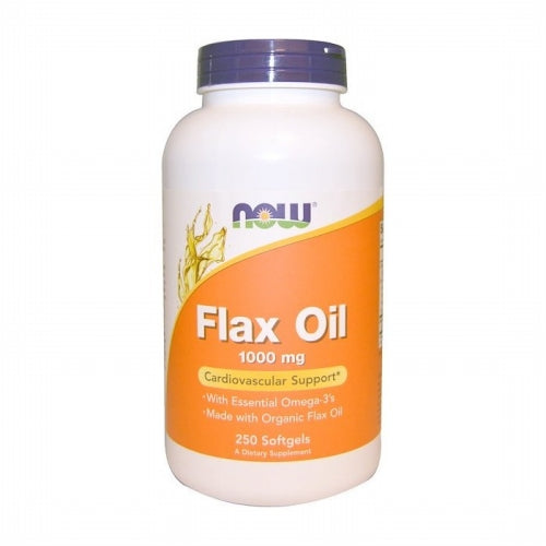 Now Foods, Flax Oil, Essential Omega-3's, 1000 mg, 250 Softgels