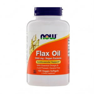 Now Foods, Flax Oil, 1000 mg, 120 Veggie Softgels