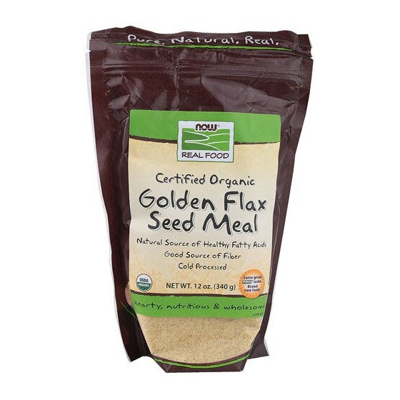 NOW FoodsNOW Real Food Certified Organic Golden Flax Seed Meal  12 oz