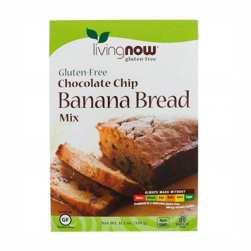 Now Foods, Chocolate Chip Banana Bread Mix, Gluten-Free, 11.3 oz (320 g)