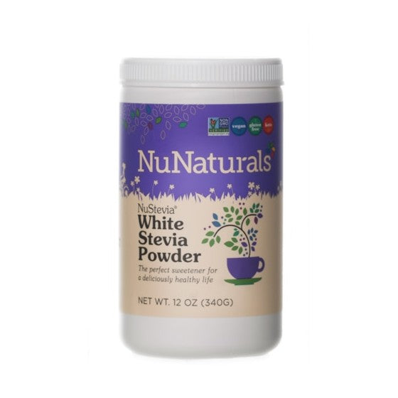 NuNaturals NuStevia White Stevia Powder  12 oz