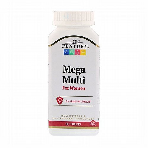 21st Century, Mega Multi, For Women, Multivitamin & Multimineral, 90 Tablets