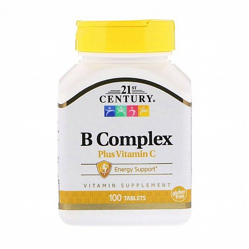21st Century, B Complex Plus Vitamin C, 100 Tablets