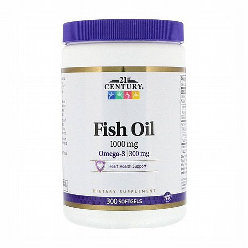 21st Century, Fish Oil, 1,000 mg, 300 Softgels