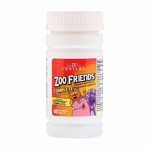 21st Century, Zoo Friends Complete, Children's Multivitamin / Multimineral Supplement, 60 Chewable Tablets