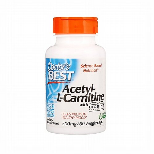 Doctor's Best, Acetyl-L-Carnitine with Biosint Carnitines, 500 mg, 60 Veggie Caps